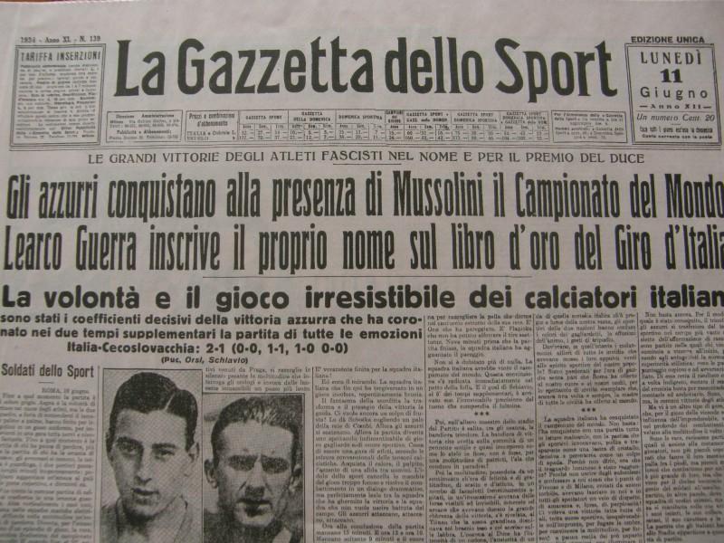 Italien verdensmester 1934