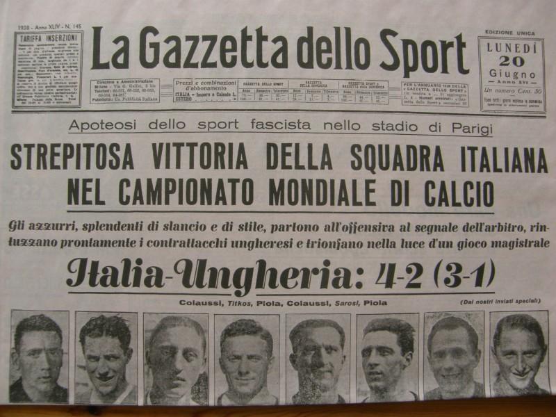 Italien verdensmester 1938