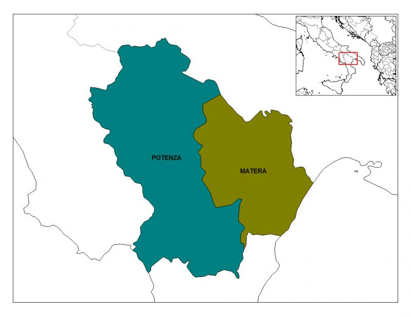 Oversigt over Basilicata