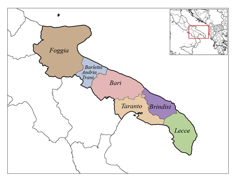 Oversigt over Italiens hæl
