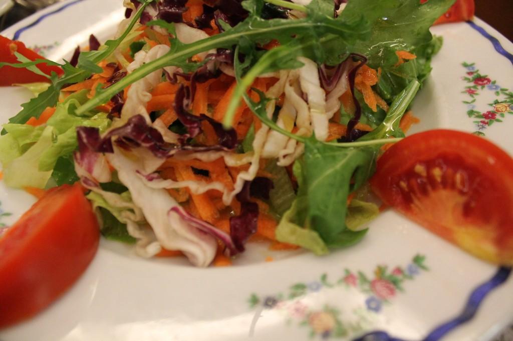 Frisk og lækker salat hos Le Tavernelle