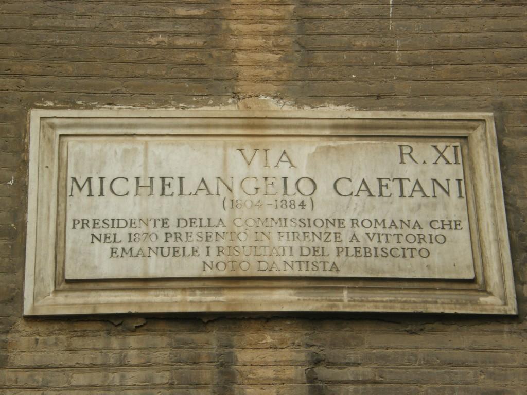 Via Caetani hvor politikeren Aldo Moro blev fundet død i 1978