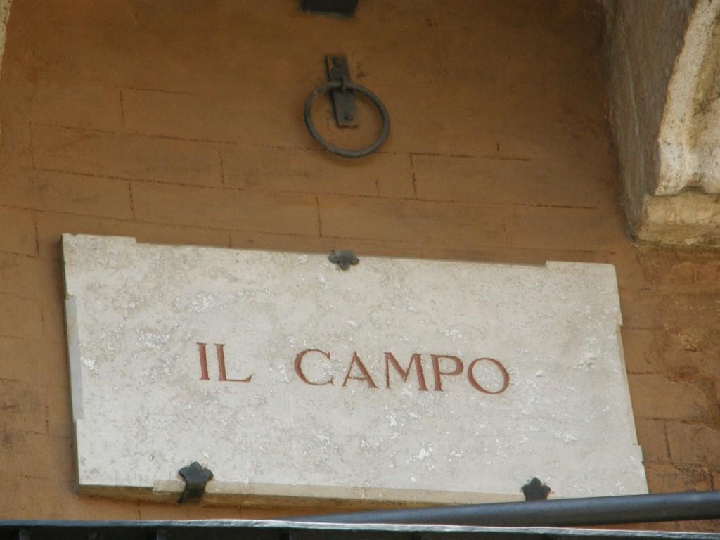 Velkommen på Il Campo - Sienas centrale plads