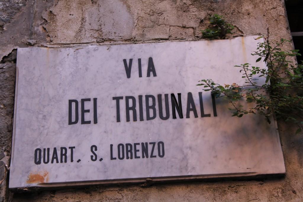 Motiv fra gade i Napoli