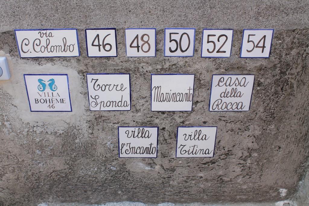 Motiv fra Positano på Amalfikysten