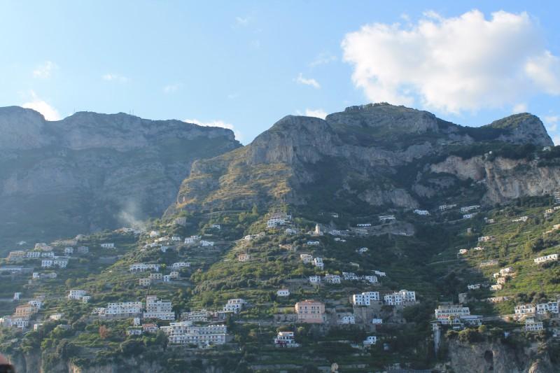 Husene på Amalfikysten - på vej retur til Sorrento