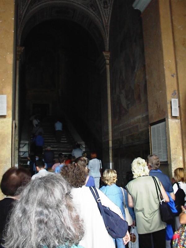 Scala Santa - den hellige trappe i baggrunden