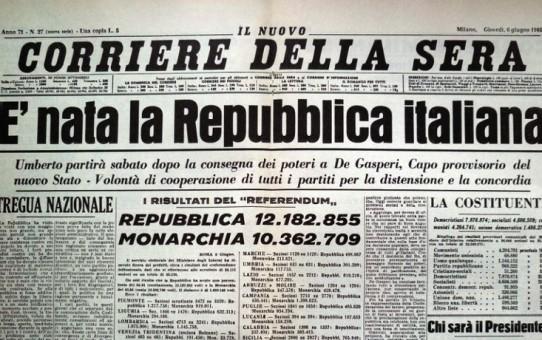 Italien fejrer 72 år med republikken