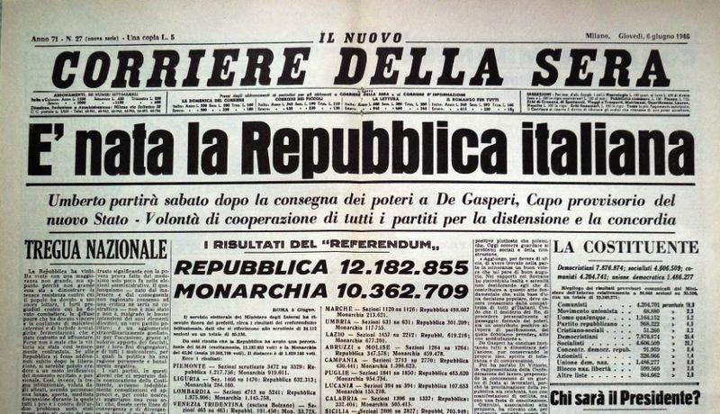 Italien fejrer 74 år med republikken
