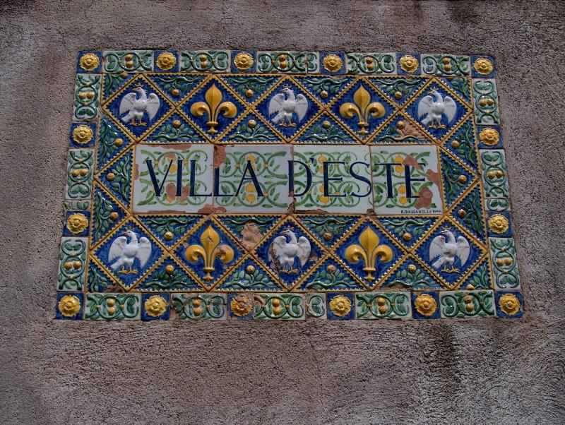 Motiv fra Villa D'Este i Tivoli uden for Rom