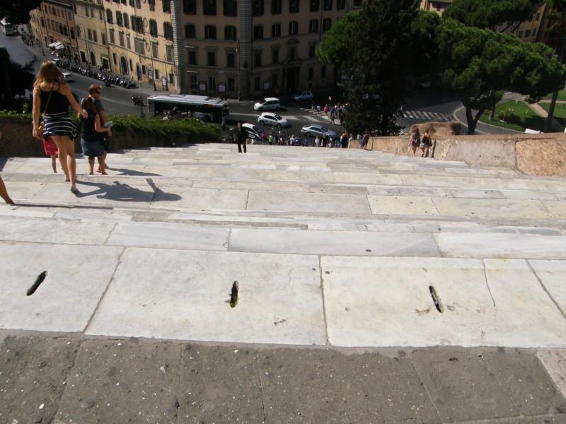 Når du så kommer ned af de 124 trin kan du passende gå til venstre og tage trapperne op til Capitolpladsen :-)
