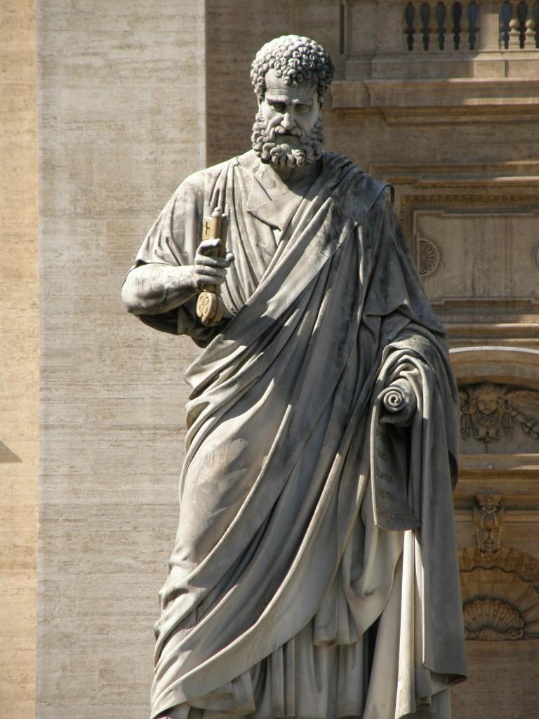 Apostlen Paulus med nøglerne foran Peterskirken