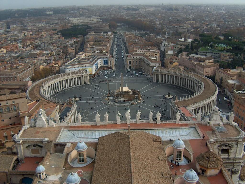 Udsigt fra Peterskirken kuppel Cupola