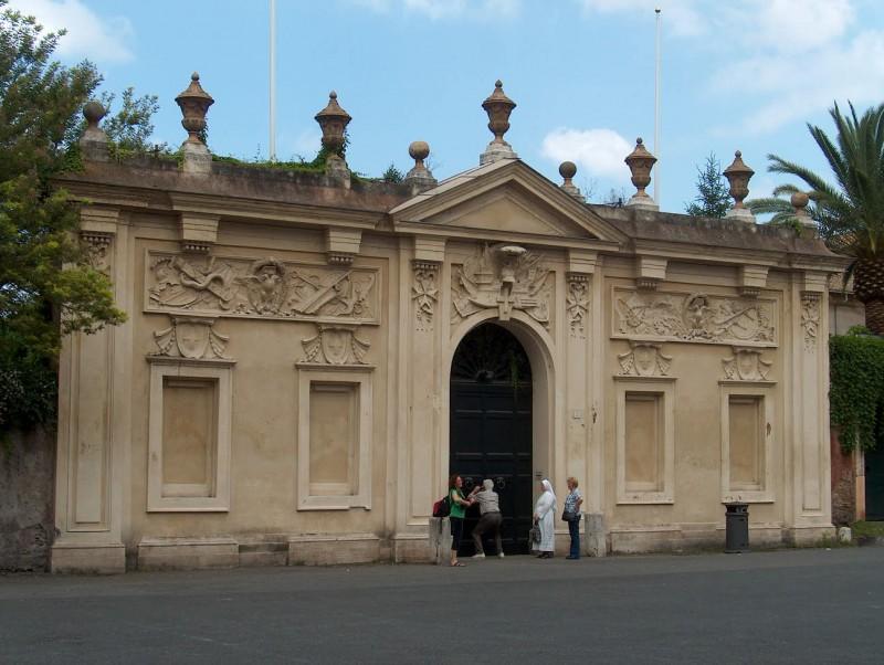 Malteserordenens nøglehul udsigt til Peterskirken