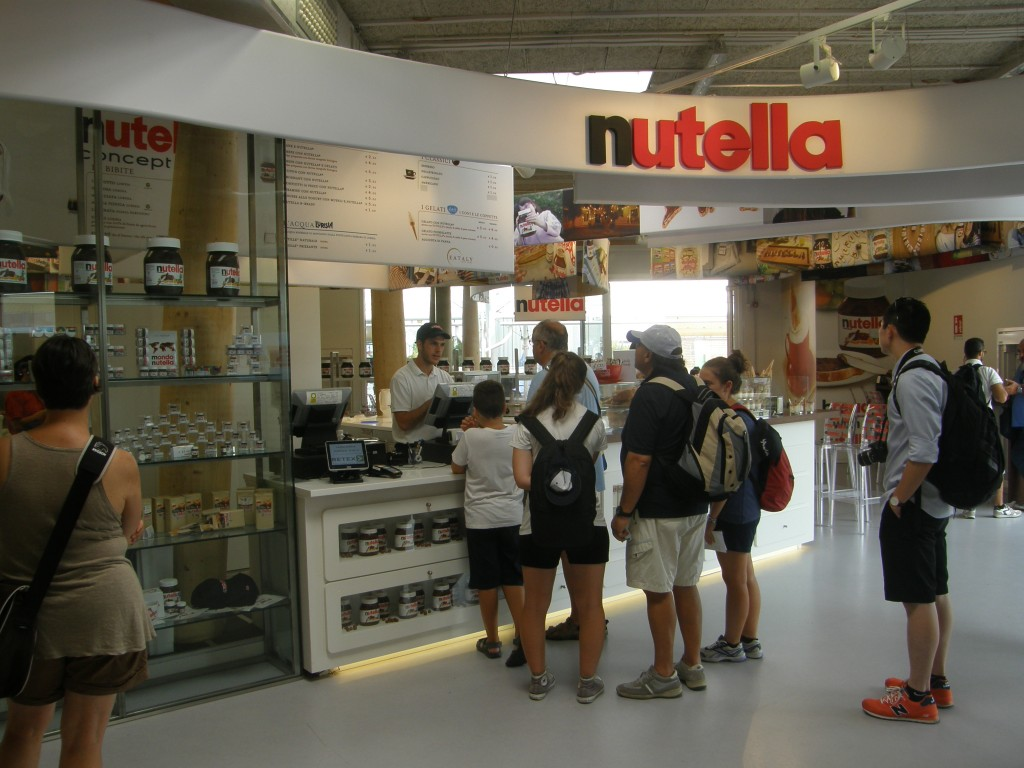 Nutella concept bar på EXPO 2015