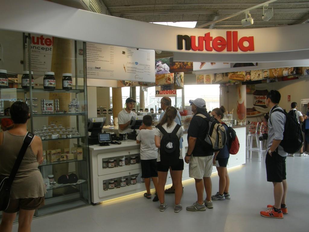Nutella concept bar på EXPO 2015