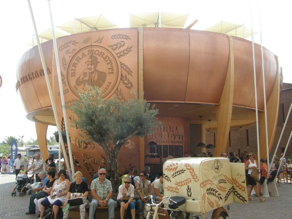 Ølproducenten Birra Moretti pavillon på EXPO 2015