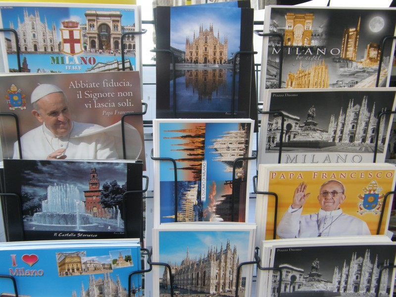 Pavens besøg skabte kaos
