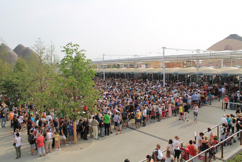 Indgangen ved EXPO 2015 i Milano