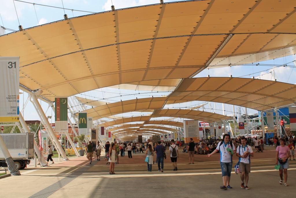 Hovedgaden Decumano på EXPO 2015