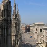 Se Milano fra taget af domkirken Il Duomo