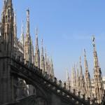 Udsigt fra tagterrassen på Il Duomo i Milano