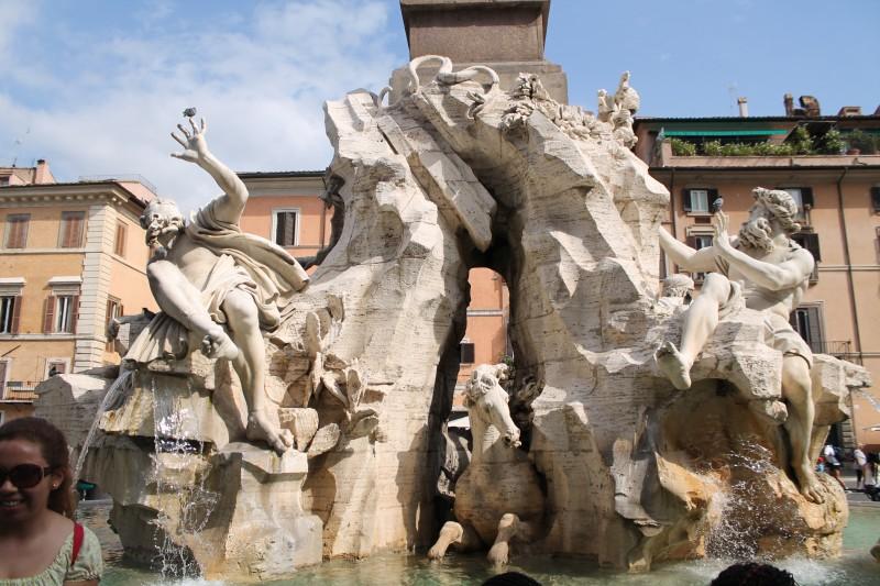 Fontæner på Piazza Navona i Rom