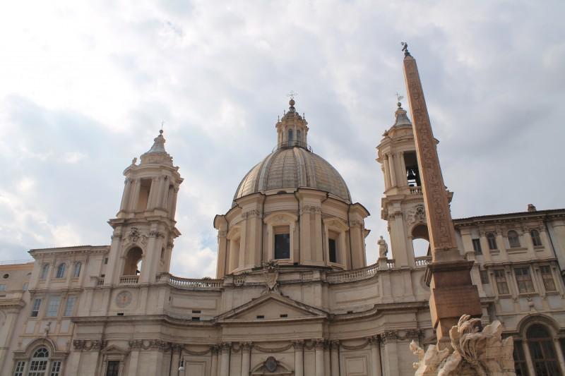 Kirken Chiesa Sant'Agnes in Agone på Piazza Navona i Rom