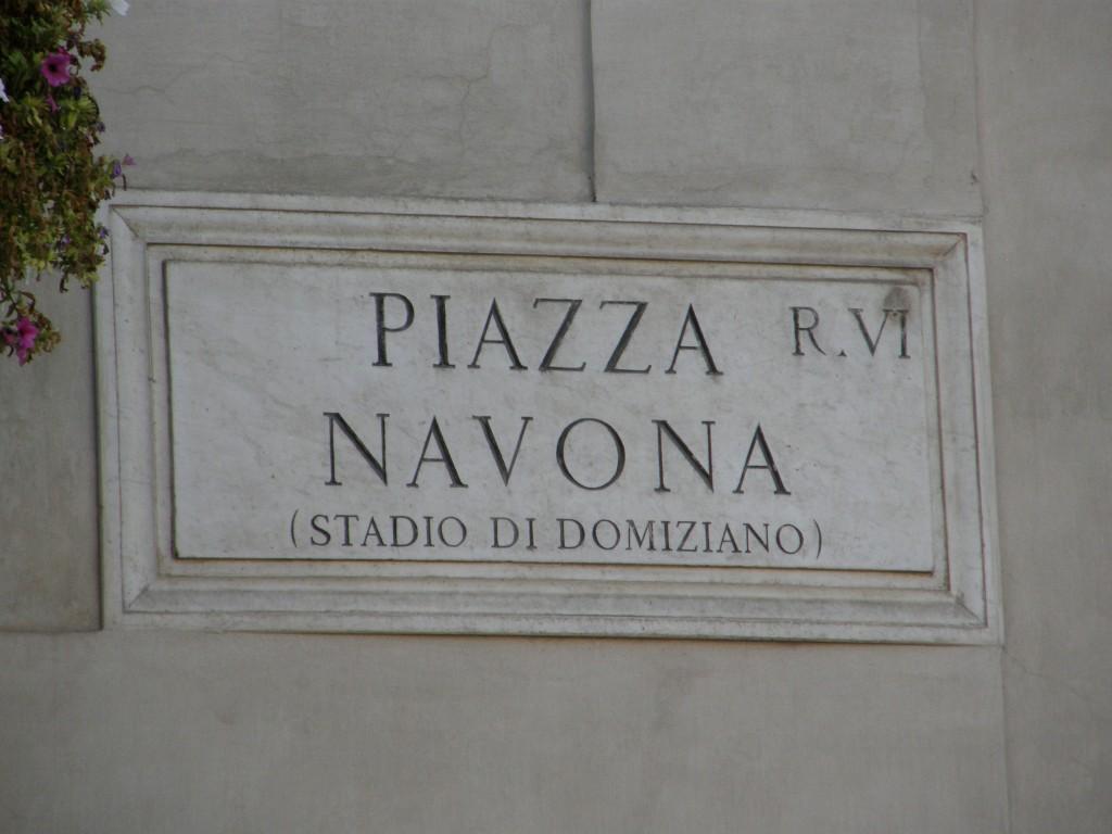Roms udendørs dagligstue Piazza Navona Domitians Stadion