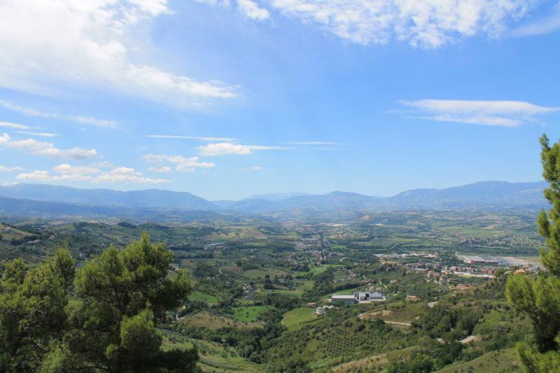 Udsigt over dalen ved Chieti Scalo