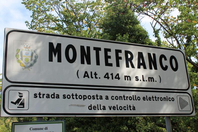 Velkommen til Montefranco - 414 meter over havet