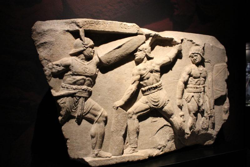 Gladiatorer i kamp i Colosseum