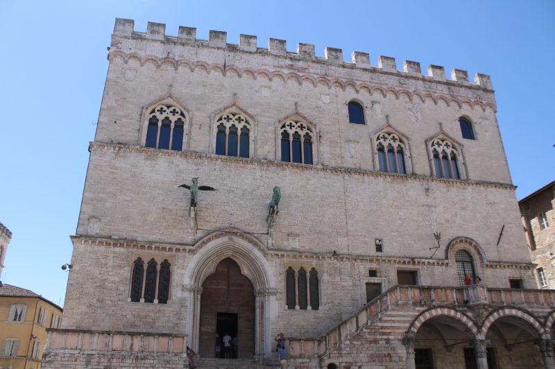 Palazzo dei Priori på Piazza 4. Novembre i Perugia