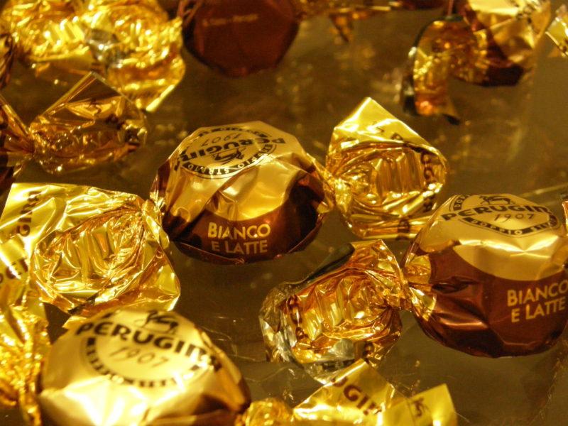 Indbydende Perugina chokolader