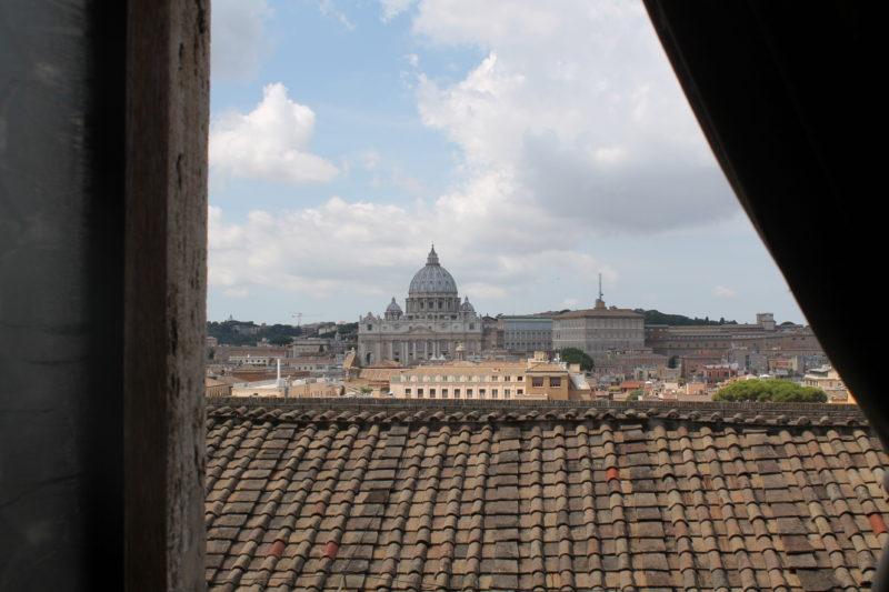 Udsigt til Peterskirken fra Castel Sant'Angelo