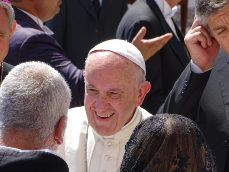 Til audiens hos paven i Vatikanstaten i Rom
